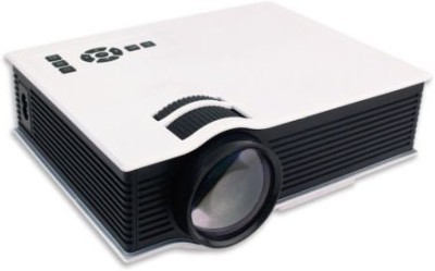 Shrih Mini HD 800 lm LCD Corded & Cordless Portable Projector(White)