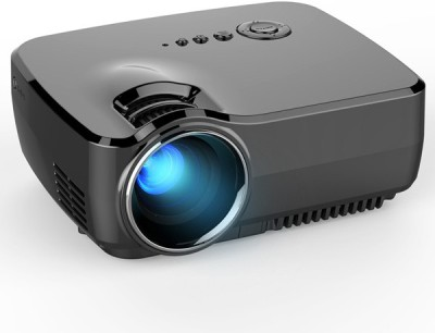 MDI HD Mini 1080 P w / HDMI VGA AV USB 800 lm LED Corded Portable Projector(Black) at flipkart