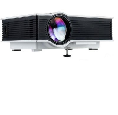 Shrih 1200 lm LED Corded & Cordless Portable Projector(White) at flipkart