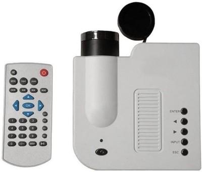 Shrih Mini HD Home 48 lm LED Corded & Cordless Portable Projector(White) at flipkart