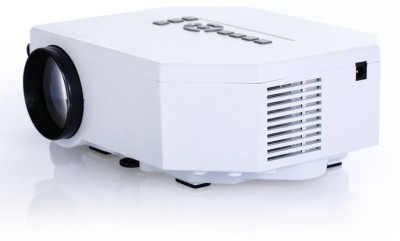 Samyu 150 lm LED Corded Portable Projector(White)