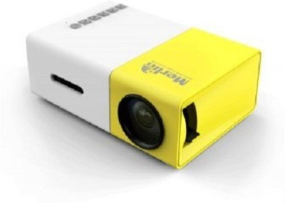 Merlin 20 lm LED Corded & Cordless Mobiles Portable Projector(Yellow, White) at flipkart