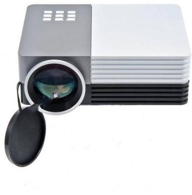 Microware 150 lm LED Corded Portable Projector(White, Grey)