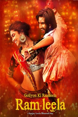 [ Myhome ] Ram Leela English Poster ( POSTER SIZE =30 cm x 45 cm ) Buy 1 and get 2 Set Vinyl Sticker (20RING &DOT)+(15 HEARTS) FREE Paper Print(18 inch X 12 inch, Rolled)  available at flipkart for Rs.140