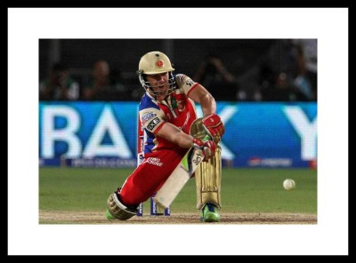 Myimage AB De Villiers RCB Digital Printing Framed Poster (13.0 inch x 19.0 inch) Paper Print(13 inch X 19 inch, Box Packed)  available at flipkart for Rs.770
