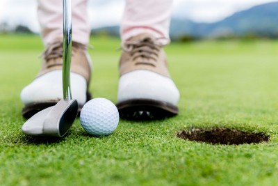 Sports golf golf Club Putter golf Ball Feet Shoe Wall Poster Paper Print(12 inch X 18 inch, Rolled)  available at flipkart for Rs.139