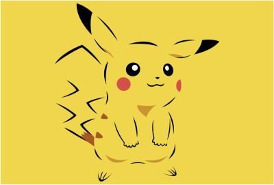 Pikachu.Pokemon Paper Print(13 inch X 19 inch, Rolled)  available at flipkart for Rs.149