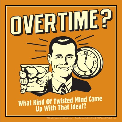 bCreative Overtime? What Kind Of Twisted Mind Came Up With That Idea? (Officially Licensed) Paper Print(12 inch X 12 inch)