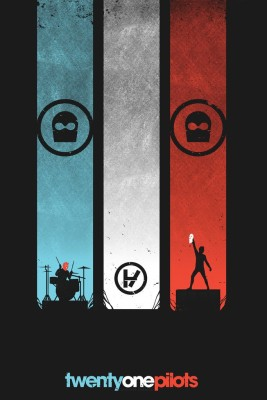 Twenty One Pilots Band (Music) Poster Paper Print(18 inch X 12 inch, Rolled)