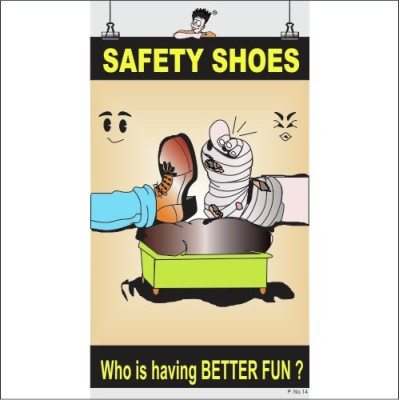 Spooky Poster-Safety Shoes Paper Print(26 inch X 14.22 inch)  available at flipkart for Rs.288