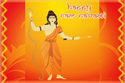 Happy Ram Navami Poster Paper Print(12 inch X 18 inch, Rolled)  available at flipkart for Rs.179