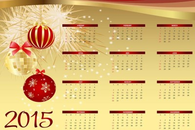 2015 Calendar S-P446 by spoilt Paper Print(12 inch X 18 inch, Rolled)