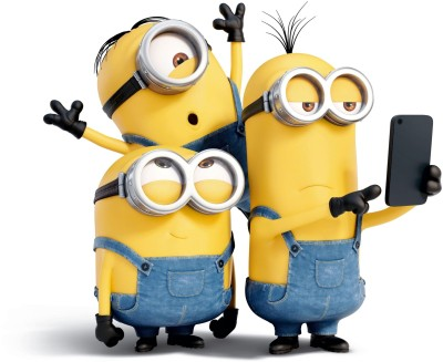 Movie Minions Stuart Kevin Bob HD Wallpaper Background Paper Print(12 inch X 18 inch, Rolled)  available at flipkart for Rs.139