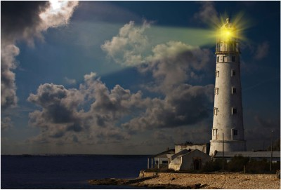 Light House Paper Print(13 inch X 19 inch, Rolled)  available at flipkart for Rs.149