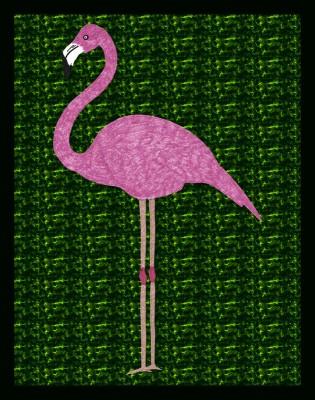 Flamingo 01 Canvas Art(30 inch X 24 inch)
