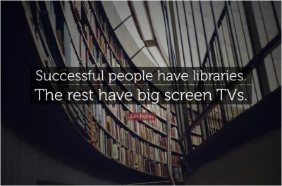 Successful People Have Libraries Quote Poster Paper Print(12 inch X 18 inch, Rolled)  available at flipkart for Rs.169