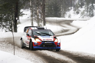 Sports Rallying Rally Race Car Ford Winter Snow Snowfall Wall Poster Paper Print(12 inch X 18 inch, Rolled)  available at flipkart for Rs.139
