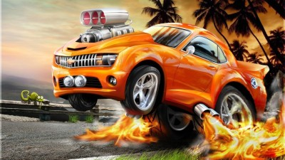Car Animation Poster Paper Print(12 inch X 18 inch, Rolled) at flipkart