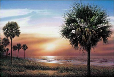 Palm Tree Wallpaper Paper Print(13 inch X 19 inch, Rolled)  available at flipkart for Rs.149