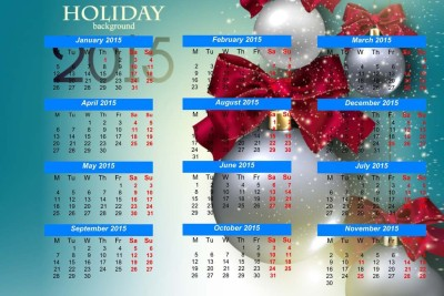 2015 Calendar S-P450 by spoilt Paper Print(12 inch X 18 inch, Rolled)