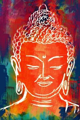 Lord Buddha Designed By Deepak Gupta Paper Print(18 inch X 12 inch, Rolled)