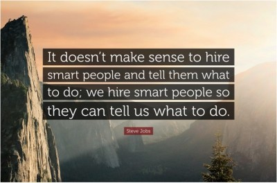 Hire Smart People Steve Jobs Quote Poster Paper Print(12 inch X 18 inch, Rolled)  available at flipkart for Rs.169