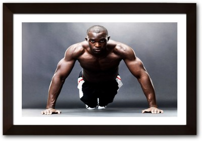 Framed Routine Push ups Paper Print(13 inch X 19 inch, Framed)  available at flipkart for Rs.770