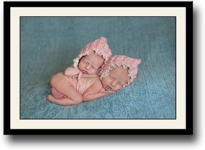 AnanyaDesigns Wall Poster Two super cute babies PaperPrint Paper Print 12 inch X 18 inch, Rolled