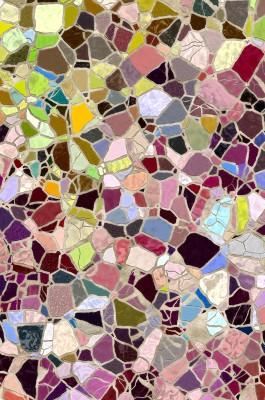 Colour Mosaic Canvas Art(44 inch X 29 inch)