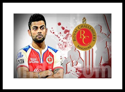 Myimage Virat Kohli RCB Digital Printing Framed Poster (13.0 inch x 19.0 inch) Paper Print(13 inch X 19 inch, Box Packed)  available at flipkart for Rs.770
