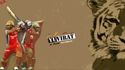 Sports Cricket Poster Yuvraj Singh Virat Kohli Rcb Wall Poster Paper Print(12 inch X 18 inch, Rolled)  available at flipkart for Rs.139