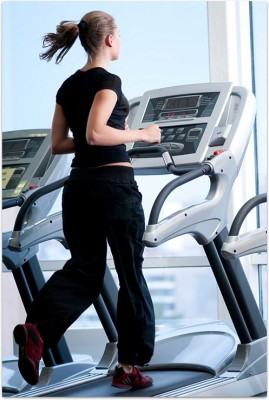 Girl on treadmill Paper Print(18 inch X 12 inch, Stacked)  available at flipkart for Rs.215