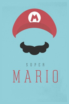 Super Mario Poster for Kids Room Paper Print(12 inch X 18 inch, Rolled)