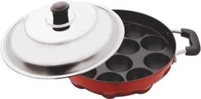 Meet 12 Cavity Nonstick Appam Patra Paniyarakkal Set with Lid(Aluminium, Non-stick) at flipkart