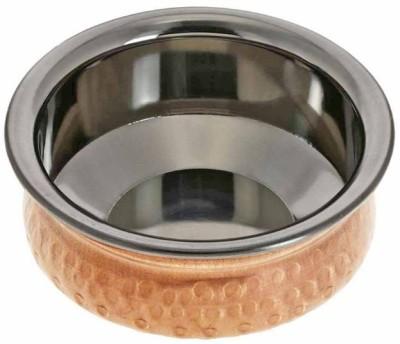 Prisha India Craft Copper Hyderabadi Bowl Handi 0.3 L Stainless Steel Prisha India Craft Handis