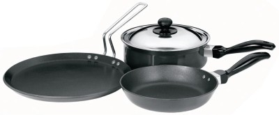 Hawkins Futura Cookware Set Pan, Pot, Tawa Set(Aluminium, Non-stick)  available at flipkart for Rs.2999