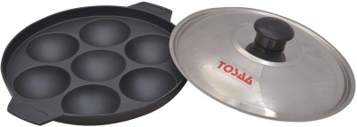 Tosaa Non-Stick 7 Cavity Appam Patra with Lid Pot, Pan(Aluminium, Non-stick)  available at flipkart for Rs.249