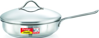 Prestige Xclusive Alpha Fry Pan 22 cm diameter with Lid Stainless Steel, Induction Bottom Prestige Pans