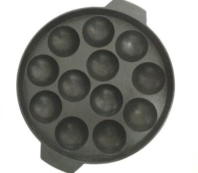LMS Non Stick 12 Cavity Appam Patra Paniarakkal 1 L capacity 21 cm diameter Aluminium, Non stick LMS Pans