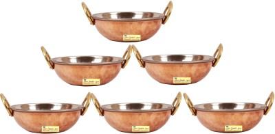 SSA 6 piece serving set Kadhai 9 cm diameter 0.5 L capacity Copper SSA Woks   Kadhais