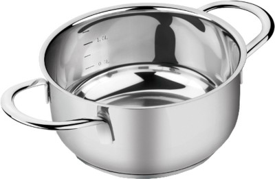I-Pac Stainless Steel Pot 1 L(Stainless Steel, Induction Bottom) at flipkart