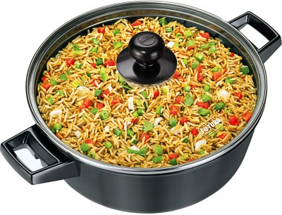 Hawkins Futura Cook n Serve with Glass Lid Pot 3 L with Lid Aluminium, Non stick Hawkins Cookware Pots