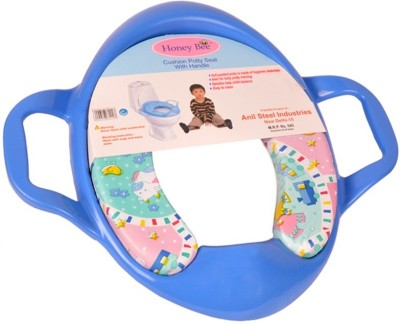 Honey bee Cushioned seat with Handle Potty Seat(Blue)
