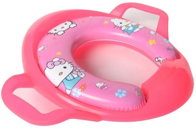 Baby Bucket Soft Padded Hello Kitty Print Training Toilet Seat With Handles Potty Seat(Pink) at flipkart