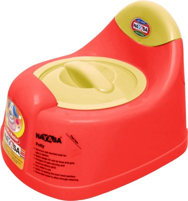 Nayasa Gold Dust Baby Traning Lid Potty Seat Red Nayasa Potty Seats