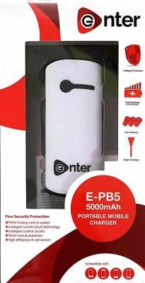 Enter E-PB5 5000 mAh Power Bank Image