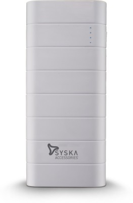 Syska 10000 mAh Power Bank (Power Boost 100)(White, Lithium-ion)