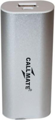 Callmate 5200 mAh Power Bank Silver, Lithium ion Callmate Power Banks