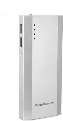 Ambrane 10000 mAh Power Bank  P 1111, NA  Silver, Lithium ion