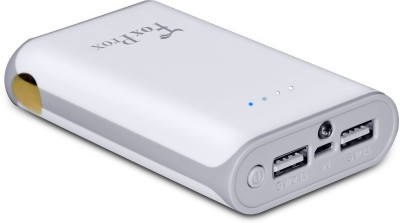 FoxProx 7800 mAh Power Bank White, Lithium ion FoxProx Power Banks